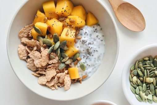 Chia Seed Bowl with Almond Milk