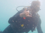 Sidharth Malhotra is a certified scuba diver
