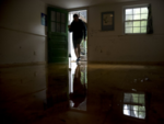 Water entered the basement of houses