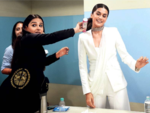 Vidya Balan and Taapsee Pannu caught in a candid moment
