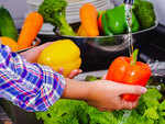 Washing firm fruits and vegetables