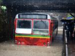 Bus stuck in Malad subway