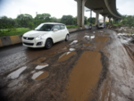 Potholes near Wadala