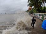 Mumbaikars witness high tide at Dadar Chowpatty, Marine Drive
