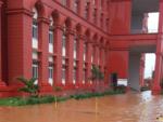 Water enters court premises in Hubballi