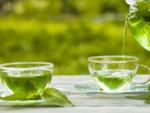 Green tea contains caffeine