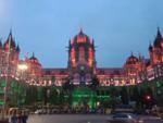 Chhatrapati Shivaji Maharaj Terminus lit up