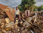 Houses destroyed in Sangli