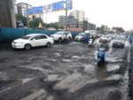 Potholes on Andheri Highway