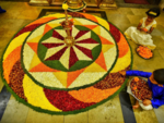 The extraordinary pookalam