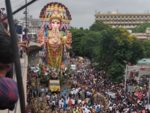 Hyderabad's Khairatabad Ganesha proceeds for immersion
