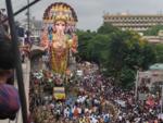 Hyderabad's Khairatabad Ganesha proceeds for immersion