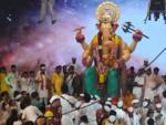 Devotees flock at Lalbaugcha Raja Ganesh pandal