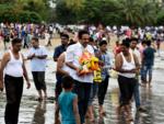 Jayant Patil bids bappa farewell