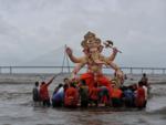 Ganpati visarjan at Dadar Chowpatty