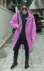 Ranveer Singh flaunts his purple jacket