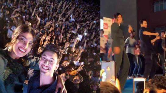 'The Sky Is Pink' promotion: Priyanka Chopra clicks selfie with students, dances with Rohit Saraf in Jaipur