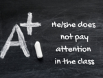 He/she does not pay attention in the class