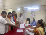 Pradeep Sharma files nomination from Nallasopara
