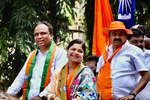 Poonam Mahajan attends Ashish Shelar's nomination rally