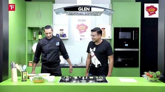 Times Food Boardroom Kitchen: Cooking Red Snapper with Lemon Garlic on Spinach Bed with Sandeep Aggarwal, Founder, ShopClues & Droom