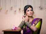 A professional photo shoot for Karwa Chauth