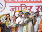 Sena's Yamini Jadhav tries to connect with people with 'Here To Serve' slogan