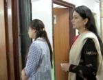 Padmini Kolhapure spotted at a booth in Andheri