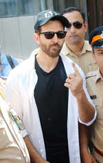 Hrithik Roshan looks dashing as he steps out to vote