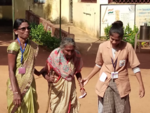 Elders vote in Gadchiroli