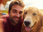 ​Dog owners love getting photographed with their pets