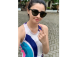 Daisy Shah casts her vote