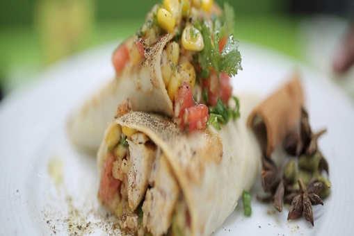 Chicken Changezi Burrito