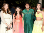 Ananya Panday arrives with her family
