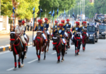 Ahmedabad Police participate in a march past