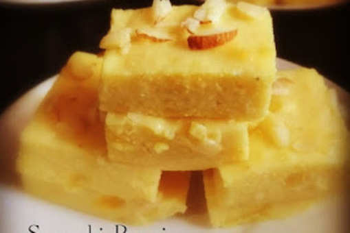 Bread Custard Barfi