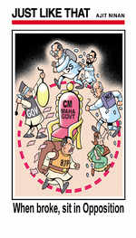 When broke, sit in opposition