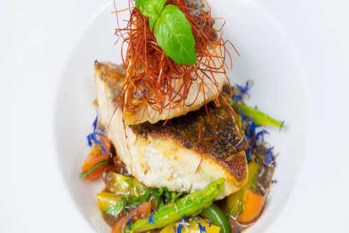 Pan Seared Fish Fillet in Olive Tapenade
