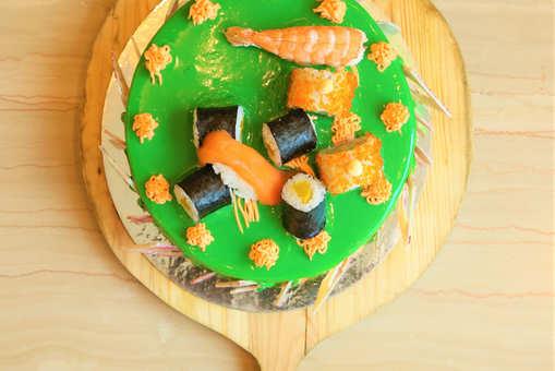 Lemon Sushi Cake