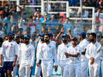 Team India acknowledges crowd after series win