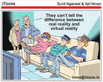 Difference between real reality and virtual reality