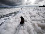 Authorities analyse foam samples