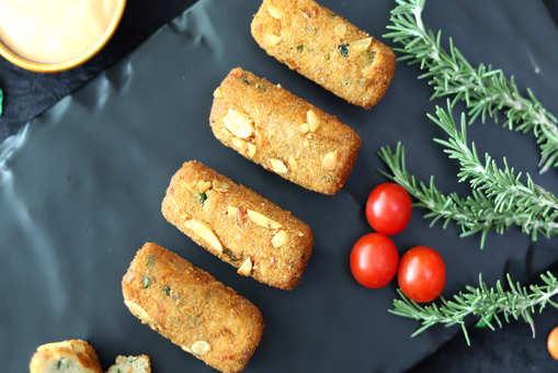 Hazelnut Crusted Cheese Potato Croquettes