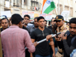 Farhan Akhtar participates in the protest