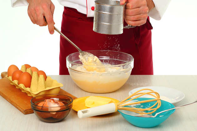 Add sugar and eggs