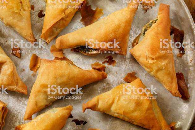 Baked filo pastry