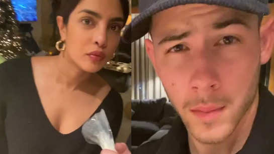 This video of Priyanka Chopra and Nick Jonas' video decorating cookies for Christmas is too cute to handle!