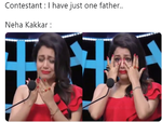 Neha Kakkar crying on Indian Idol