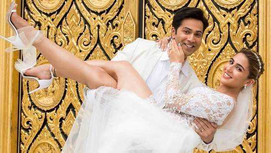 Coolie No. 1:  Sara Ali Khan and Varun Dhawan look straight out of a fairy tale in this latest still