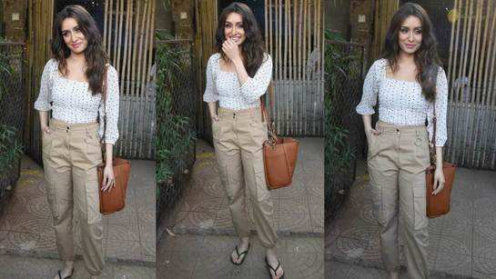 Shraddha Kapoor gets papped outside rumoured beau Rohan Shreshta's studio